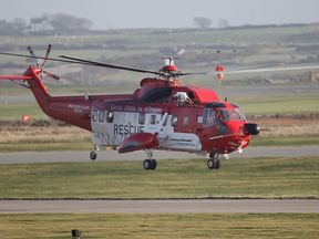An Irish coasguard helicopter has joined the search for the missing woman
