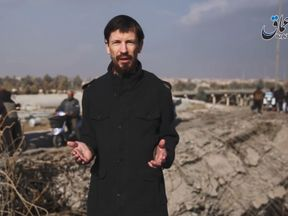 John Cantlie in a video released by the Amaq news agency