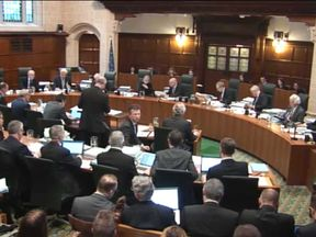 A general view of the Supreme Court in session