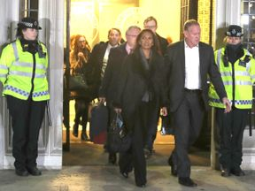 Businesswoman Gina Miller (centre) leaves the Supreme Court in London