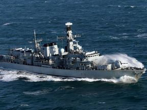 HMS Sutherland has been patrolling the seas around the UK since the summer