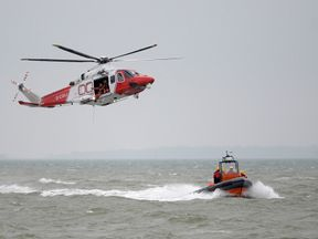 A file picture of a UK Coastguard helicopter