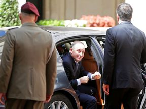 New Zealand's Prime Minister John Key in Rome, Italy