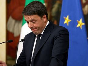 Italian Prime Minister Matteo Renzi spoke to the Italian President after his defeat