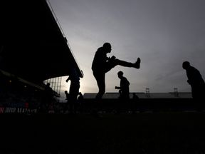 Players warm up during the Premier League match at Selhurst Park, London on Saturday November 19, 2016