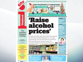 The i says that public health officials have urged the government to introduce minimum alcohol pricing