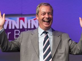 Nigel Farage shortlisted for Time's person of the year award