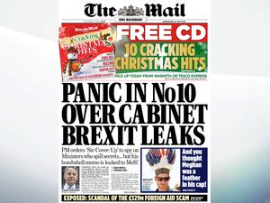 Sunday's national newspaper front pages