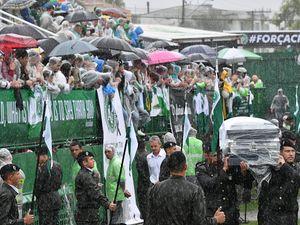 Grieving Brazilian town honours plane crash victims