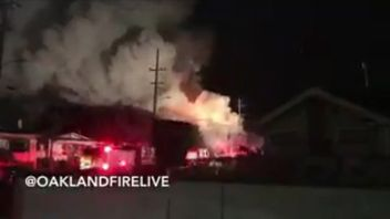 A fire has broken out at a warehouse in Oakland, California