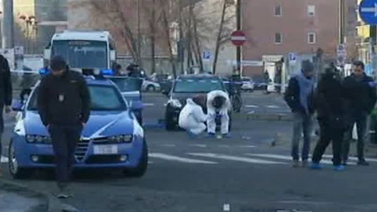 The Berlin suspect was reportedly shot after police stopped him in Milan. Pic: Sky Italia