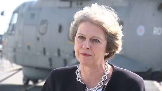Theresa May wants a 'red, white and blue' Brexit
