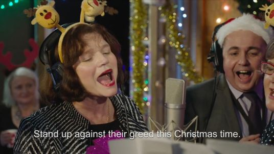 The song is to highlight the plight of the low paid at Christmas