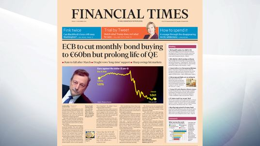 The FT says the European Central Bank will scale back the amount in bonds it buys