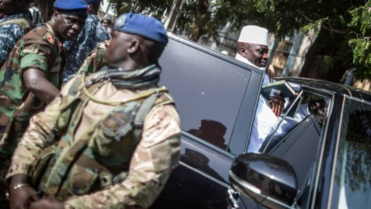 Who is departing Gambian ruler Yahya Jammeh?