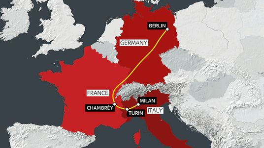 Amri travelled by train across Europe after the attack