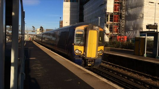 While all Southern services were cancelled, this 'driver-only' Thameslink train was running.