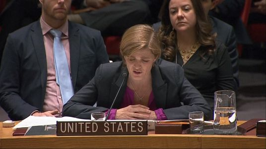 US ambassador to the UN, Samantha Power