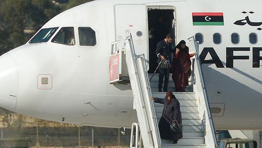 Passengers and crew are released from the hijacked aircraft in Malta.