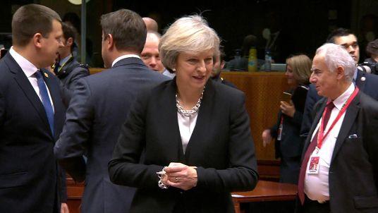Theresa May seems isolated at the EU summit