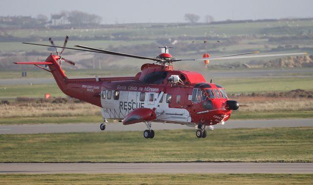 Three coastguard helicopters search Irish Sea for ferry passenger