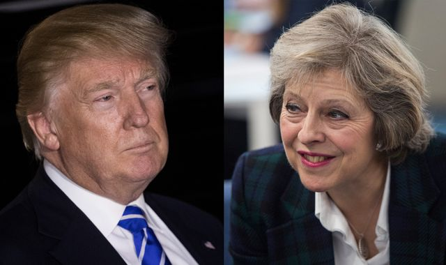 Theresa May: Talking to Donald Trump is 'very easy'