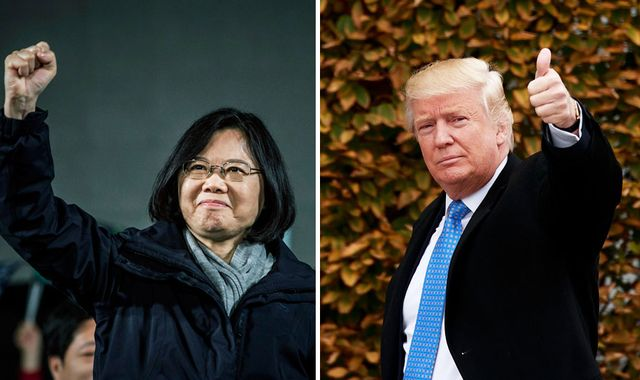 Trump speaks to Taiwan's leader in a move that could anger China