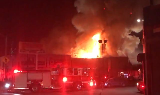 Fire at warehouse party leaves nine dead and 13 missing in California