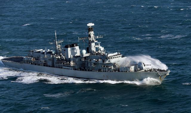 Royal Navy frigate shadows Russian warship in English Channel