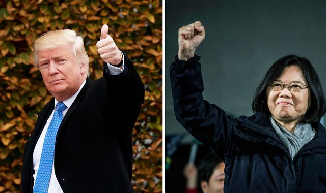 Trump conversation with Taiwan president 'just a courtesy call'