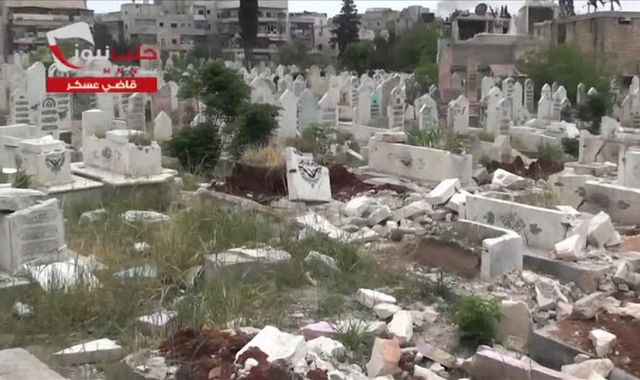 Aleppo cemeteries run out of room to bury victims of bloody conflict