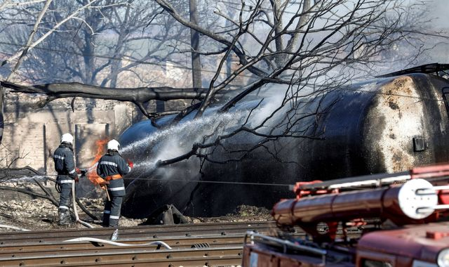 Bulgaria cargo train explosion leaves five dead and 25 injured