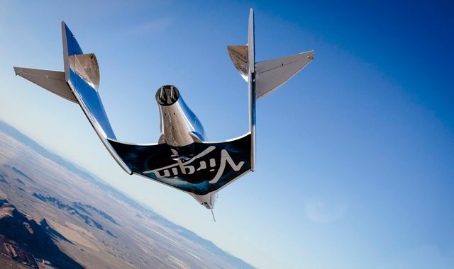 Virgin Galactic test flight success above California's Mojave Desert