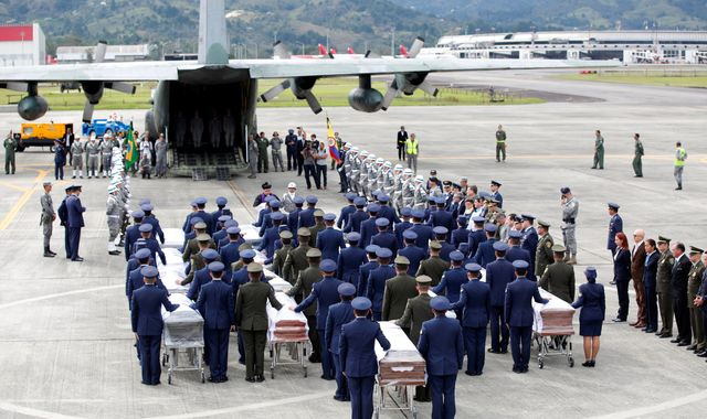 Colombia plane crash: Bodies of victims flown home to Brazil
