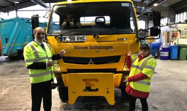 Council gritting lorry Nicole Saltslinger has the X Factor