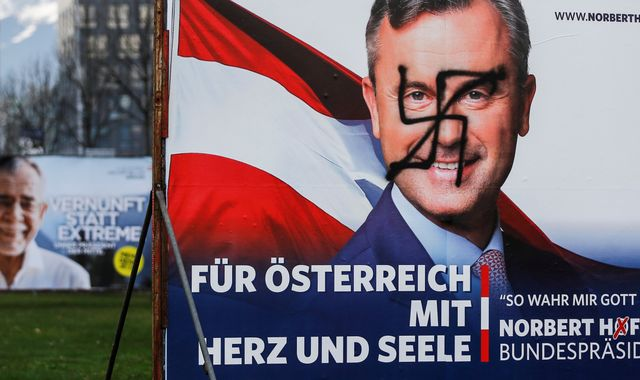 Far-right candidate behind in Austria election, projections suggest