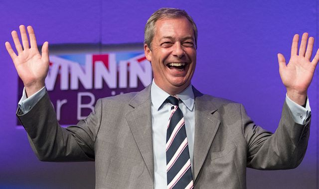 Nigel Farage shortlisted for Time magazine's Person of the Year award