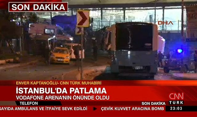 Two blasts outside Istanbul stadium 'kill at least 13'