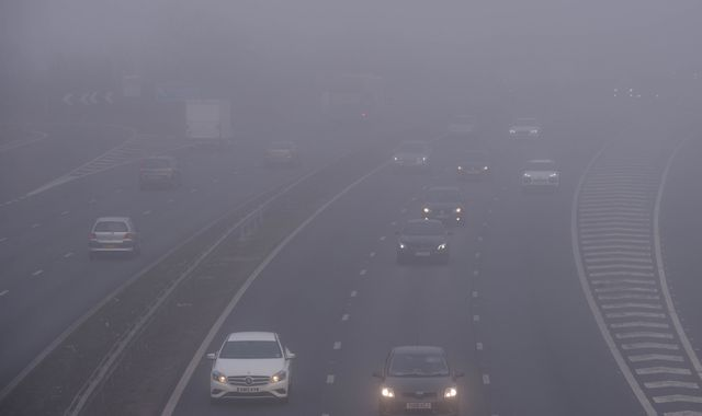 Freezing fog warning as UK goes back to work