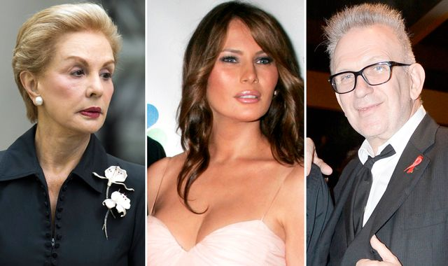 Herrera and Gaultier line up to dress Melania Trump