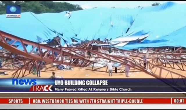 Dozens dead and wounded after church roof collapses in Nigeria