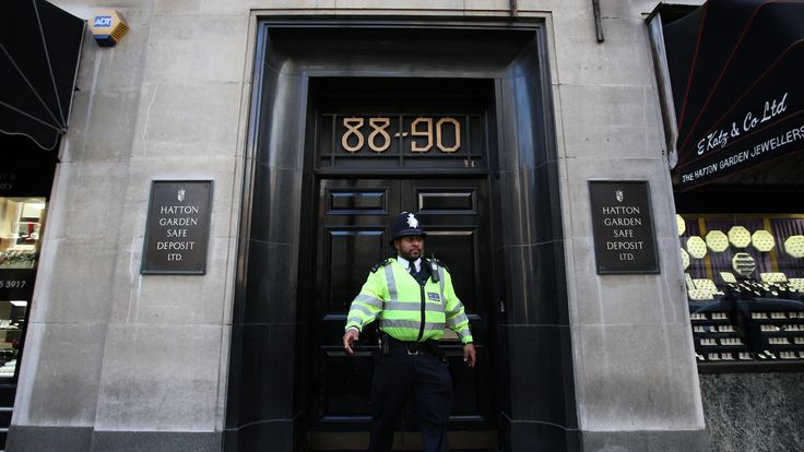 Palmer is thought to be linked to the Hatton Garden jewellery heist in 2015