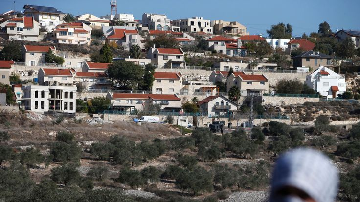 An Israeli settlement near Nablus in the West Bank