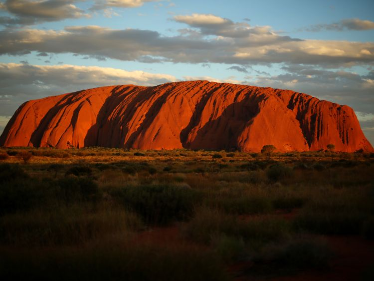 Sunset at Uluru in April 2014