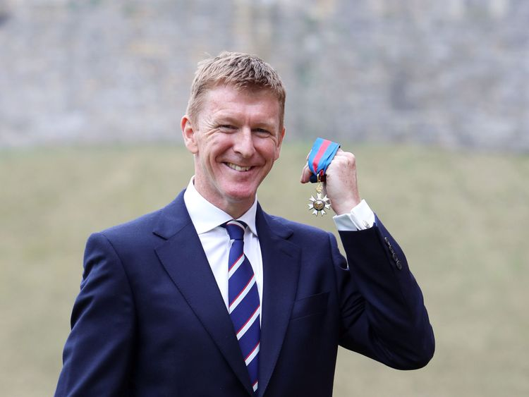 Major Tim Peake at Windsor Castle
