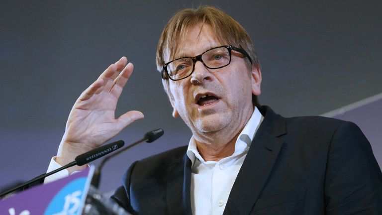 Guy Verhofstadt  says