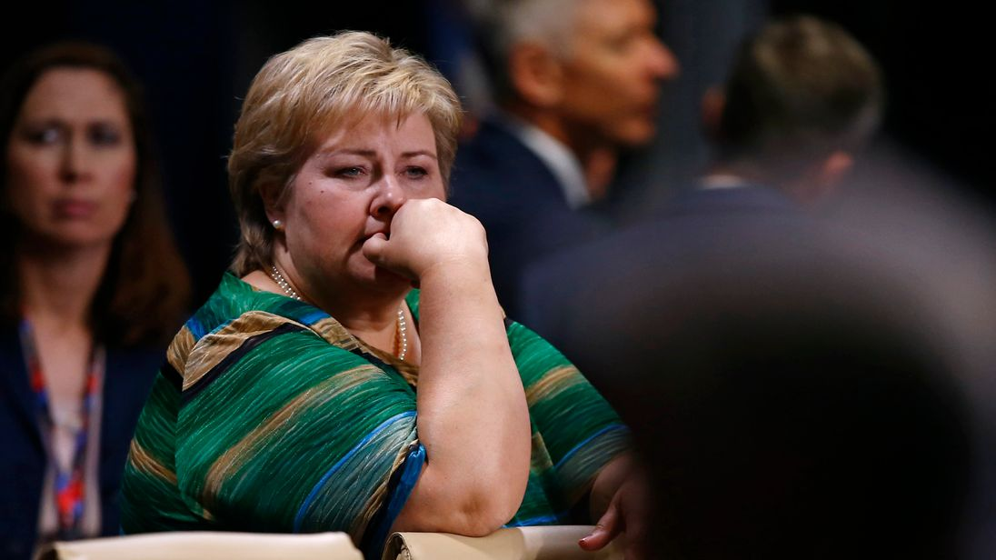 Erna Solberg says it has been 'a long time' since the UK negotiated on an international stage