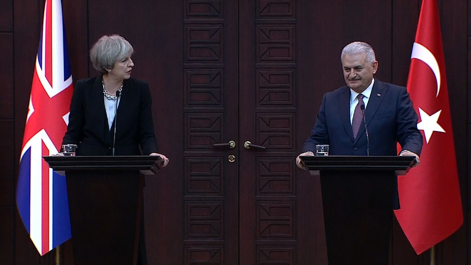 Theresa May and Binali Yildirim