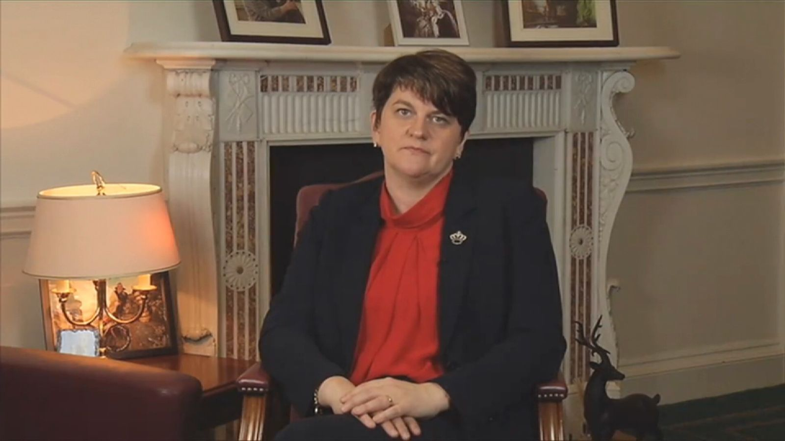 Arlene Foster responds to the resignation of Martin McGuinness