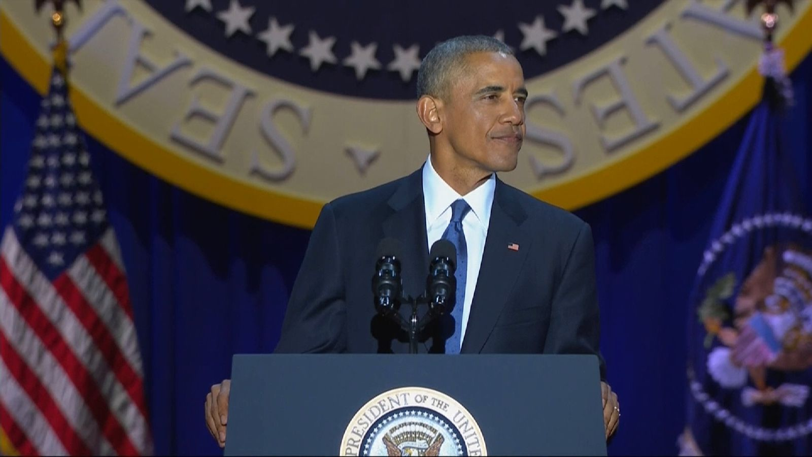 The 44th President says goodbye